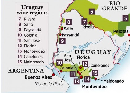 Uruguay wine regions